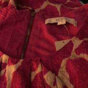 Ann Taylor LOFT Pink Cotton Dress Size 6